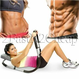 Ab Fitness Crunch Roller Abdominal Exercise Workout Machine Home Gym Abs Trainer