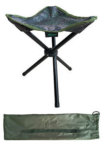 MDI Carp CAMO Quick Folding Stool & Carry Case For Fishing, Camping, Walking