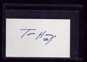 "VINTAGE CLEVELAND INDIANS ""TOMMY HINZO"" SIGNED INDEX CARD - DEBUT 1987"