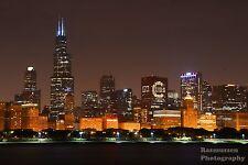 GO Cubs Chicago Skyline Fly The W 2106 World Series Photos Photo 8x10 #1117