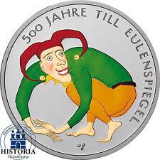Deutschland 10 Euro 2011 bfr. Till Eulenspiegel Münze in Farbe in Münzkapsel