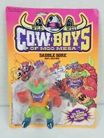 New in Card Wild West Cow Boys of Moo Mesa Saddle Sore 100% Bad Bug 1991 Figure