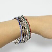 Swarovski Elements Rhinestone Stretchable 1 Row Bangle Fashion Bracelet