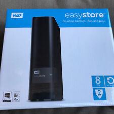 NEW WD Western Digital Easystore 8TB External Hard Drive WDBCKA0080HBK-NESN