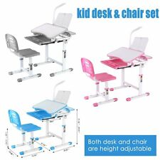 Children Study Table and Chair Set Kids Height Adjustable Home Furniture,3 Color