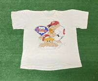 Vintage Philadelphia Phillies flintstones Shirt Sz XL