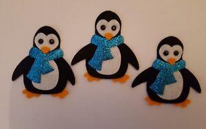 x3 Felt Penguin Embellishments.Die cuts. Christmas embellishments
