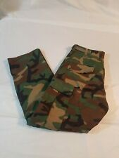 US MILITARY ISSUE BDU WOODLAND  CAMO PANTS  SIZE SMALL-REGULAR HUNTING        #F