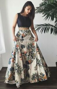Top Selling Indian Lehenga Choli Flower Print Skirt Ethnic Wedding Dance Lengha