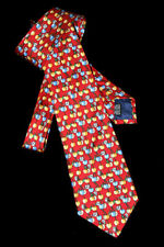 Necktie Apple or Cherry or Plum with Blossoms Novelty TIE Pink London 100% SILK