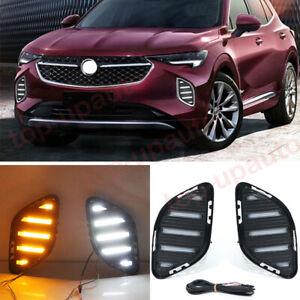 For Buick Envision 2021 2022 LED Headlights Fog Lamp Daytime Running Light 2PCS