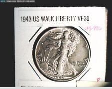 1943 Liberty Walking Half,  Cir Medium to High Grade, .3617 Oz Silver (US-986)