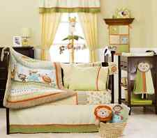 Kidsline Baby Bedding Crib Cot Bumpers Quilt Sheet Set - 9 Piece Safari Party