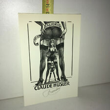 Ex-Libris FRANK IVO VAN DAMME : Claude Husler 1991 ExLibris / Bookplate YY-13346