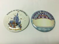 Lot of 2 Disney Happy Birthday  Button Pins