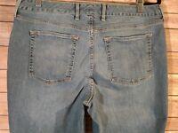 Eddie Bauer Women Size 14 Short Jeans Blue Curvy Boot Cut Specially Dyed Denim P