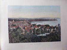MARTINIQUE/Gravure 19°in folio couleur/ Ville de Fort- de- France