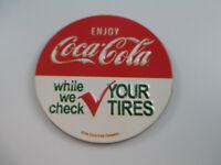 Coca-Cola Tin Sign Magnet Enjoy Coca-Cola While We Check Your Tires
