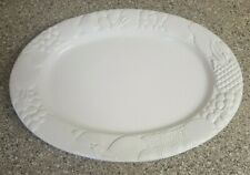 "Gibson Housewares Fine Stoneware 18 3/4"" Oval Fruit Serving Platter"
