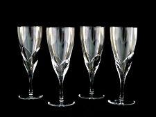 Daum Corail Crystal Goblets Glasses Set of 4