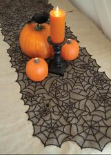 Halloween Spider Round Web Tablecloth Topper Covers Fireplace Table Party Decor