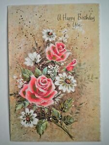 """A Sunshine Card ~ VINTAGE """"A HAPPY BIRTHDAY TO YOU"""" GREETING CARD + ENVELOPE"""