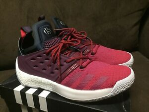 ADIDAS JAMES HARDEN VOL. 2 /WHITE/RED/MAROON NEW Size 13 US