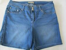 Womens SEVEN Light Blue Walking Shorts Size 16 Rhinestone Decorated Buttons FUN!