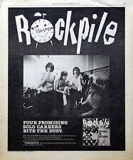 Rockpile Lowe & Edmunds Vintage & Rare 1970s Promotional Ads Collection