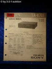 Sony Service Manual TA V701 Amplifier  (#0826)