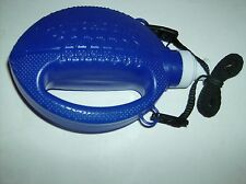 Blue Hard Plastic Football Shaped Water Container With Black Strap