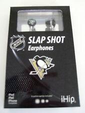 NIB Pittsburgh Penguins NHL Hockey Slap Shot Earphones Earbuds iHip NEW IN BOX!