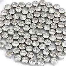 "100 Silver 0.28"" Leathercraft Diy Rhinestone Round Stud Spots Spikes Rivets Punk"