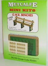 Metcalfe PO501 00 GWR Benches Cardboard Kit