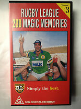 RUGBY LEAGUE ~ 200 MAGIC MEMORIES ~ MAL MENINGA~ VOLUME 3 ~ RARE VHS VIDEO