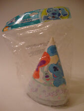 BLUES CLUES  LETS PARTY - PARTY HATS - NEW PACKAGE OF 8 - PARTY SUPPLIES