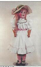 DOLL SHOES REAL LEATHER  Jumeau German doll 85mm CREAM Steiner BRU