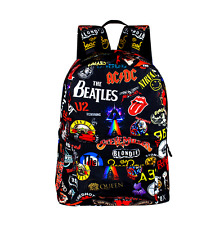 AC/DC The Beatles 3D Printed Backpack Schoolbag Fashion Outdoor Travvel Satchel