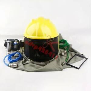 AIR FED Sandblast Helmet Sand Blast Hood Shotblasting w/3IN1 Stage Filter NEW