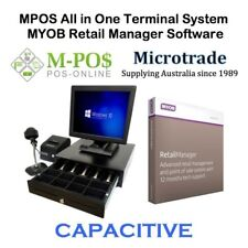 "15"" Capacitive POS Terminal, MYOB Retail Manager ver 12.5, Point of Sale System"