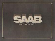 Saab EMS / Saab 99 GLE Brochure - 1978 Model Year