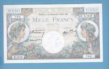 (Ref: N.780)  1000 FRANCS ( COMMERCE ET INDUSTRIE ) 19/12/1940 (NEUF)
