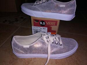 NEW $54 Womens Vans Camden Stripe Metallic Galaxy Shoes, size 9.5