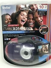NIP Vivitar iTwistX014N 2 Viewscreen Twist & Shoot 10MP Digital Camera - Purple