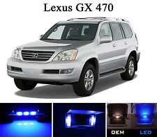 Ultra Blue Vanity / Sun visor  LED light Bulbs for Lexus GX 470 (4 Pcs)