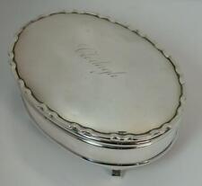Quality 1920 Silver Silver Clodagh Jewellery Box
