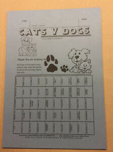 25 Tickets - Cats v Dogs - Fundraising Ticket - 50 Spaces - Fundraising