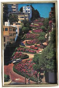 America the Beautiful VTG Poster San Francisco California Lombard St. Gold 22X15