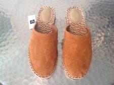 Ladies Orange Suede Mules By Gap UK Size 7. New !