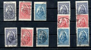 Old  stamps of Hungary 1926  # 427-429   used  MADONNA 4 sets